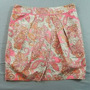 H&M Size 10 Pink Paisley Pocket Skirt